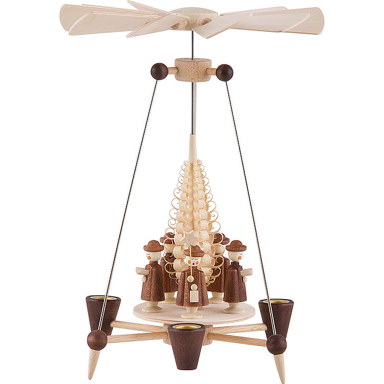 1 - Tier Pyramid  -  Carolers  -  26cm / 10 inch