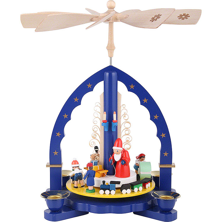 1 - Tier Pyramid  -  The Giving  -  Blue  -  27cm / 11 inch