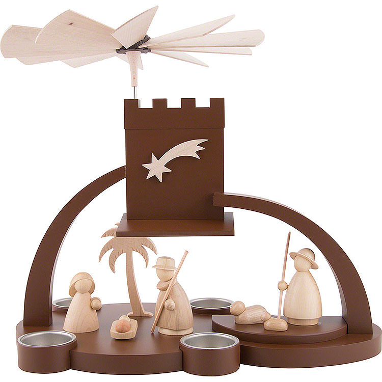 1 - stöckige Pyramide mit Christi Geburt  -  29cm