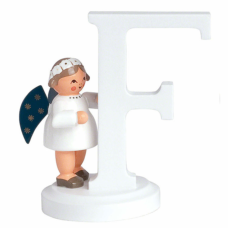 "Angel Letter ""F""  -  7cm / 2.8 inch"