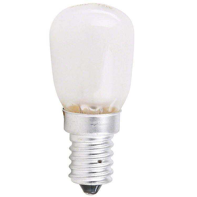 Birnenlampe gefrostet  -  Sockel E14  -  230V/15W