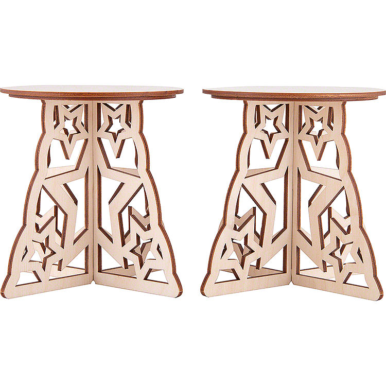 Candle Arch Base  -  Star  -  Set of Two  -  15x12cm / 5.9x4.7 inch