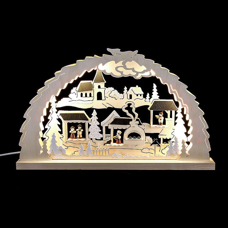 Candle Arch  -  Christmas Market  -  62x37x4,5cm / 24.4x14.6x1.7 inch
