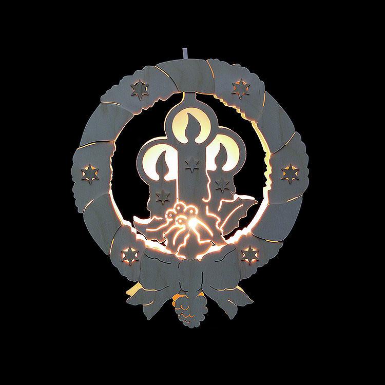 Fensterbild Kerzen  -  Durchmesser 31,5cm