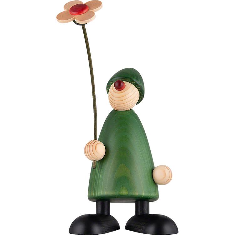 Gratulant Phillip mit Blume  -  17cm