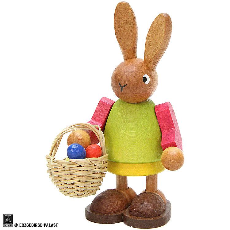 Häsin mit Eierkorb  -  8,5cm