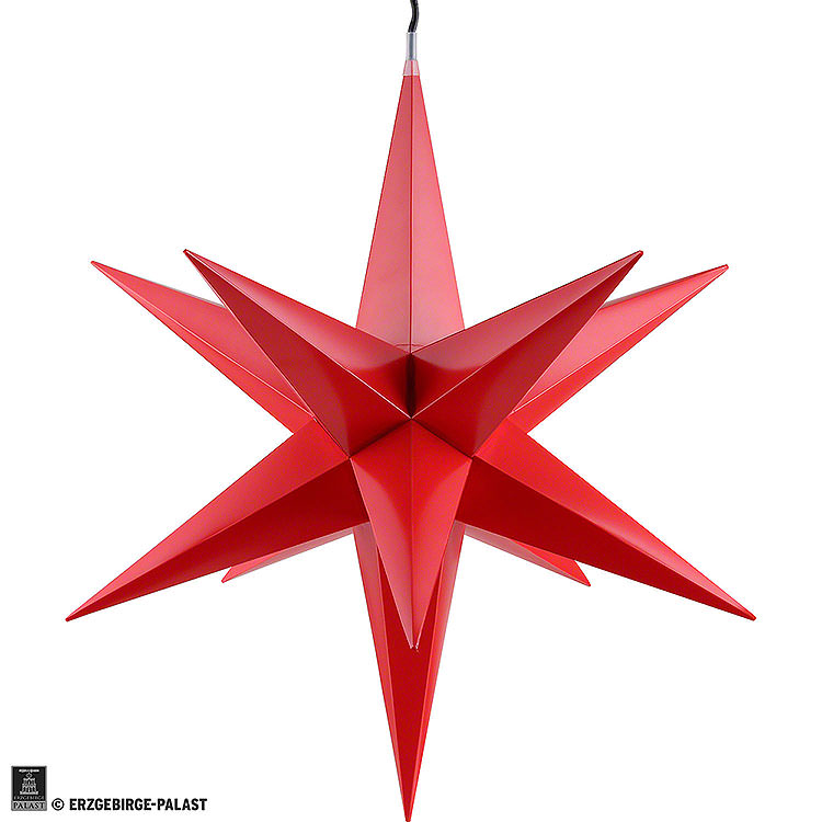 Haßlauer Weihnachtsstern für Innen und Außen rot inkl. Beleuchtung  -  60cm