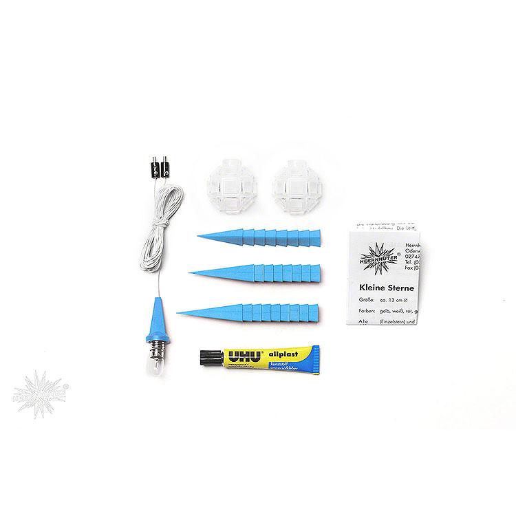 Herrnhuter Bastelstern A1b blau Kunststoff  -  13cm