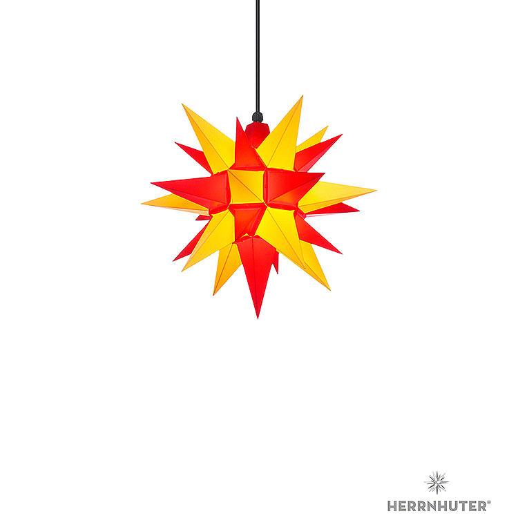 Herrnhuter Stern A4 gelb/rot Kunststoff  -  40cm