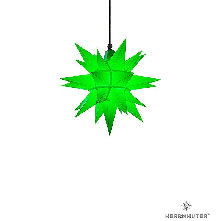 Herrnhuter Stern A4 grün Kunststoff  -  40cm