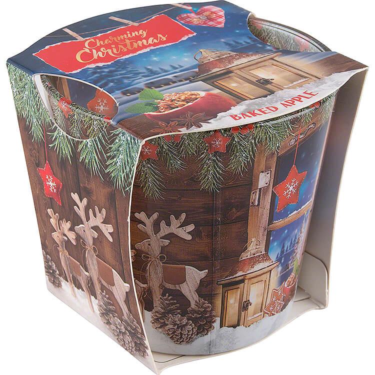 JEKA - Duftkerze  -  Charming Christmas  -  Baked Apple  -  8,1cm