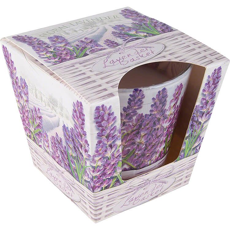 JEKA - Duftkerze  -  Lavender Basket  -  Floral Lavender  -  8,1cm