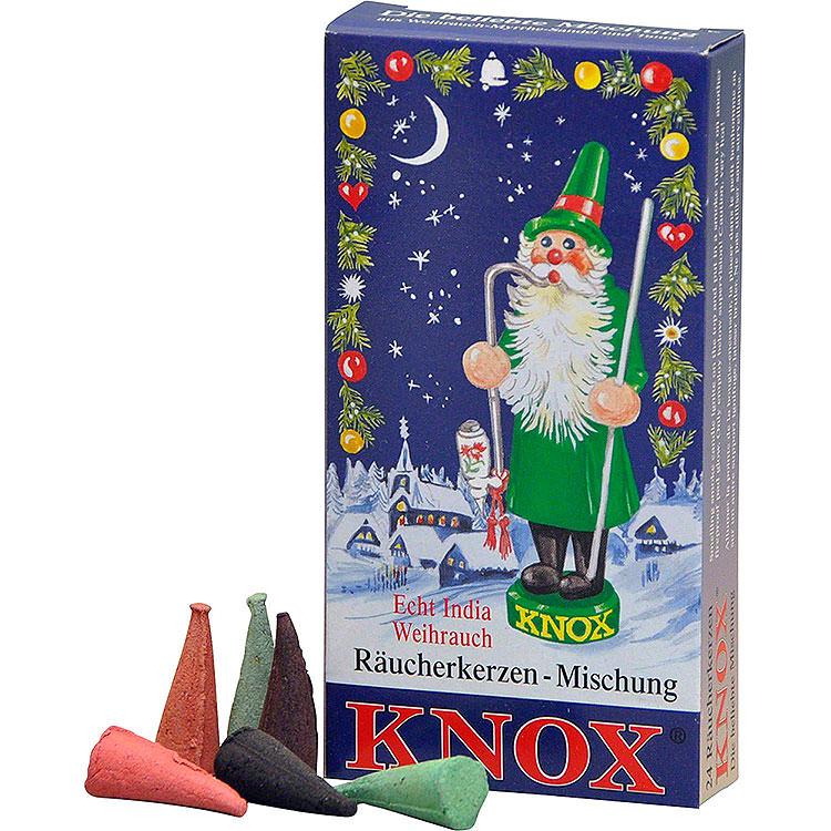 KNOX Räucherkerzen Weihnachtsmischung (Weihrauch, Tanne, Sandel)  -  24 Stück