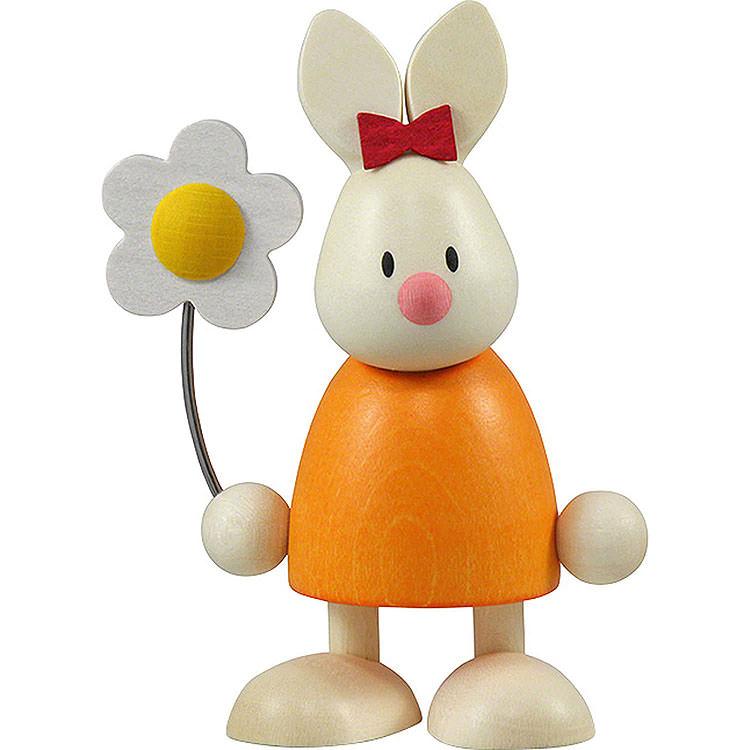 Kaninchen Emma mit Blume  -  9cm