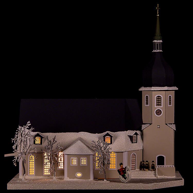 Lichterhaus Stadtkirche Olbernhau mit Kurrende  -  36cm