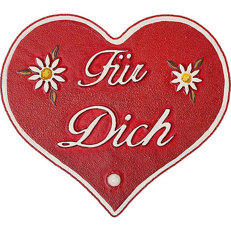 """Magnetpin - Herz """"Für Dich""""  -  7cm"""