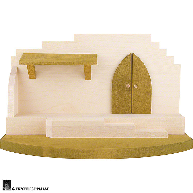Nativity Stable  -  Central Part  -  31x19cm / 12.2x7.4 inch
