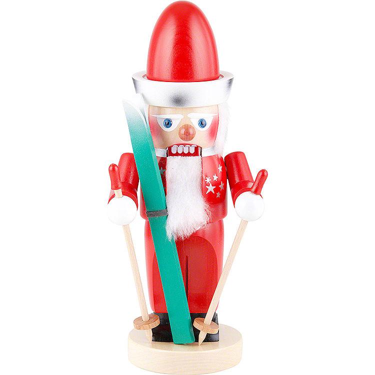 Nussknacker Chubby Santa auf Ski  -  32cm