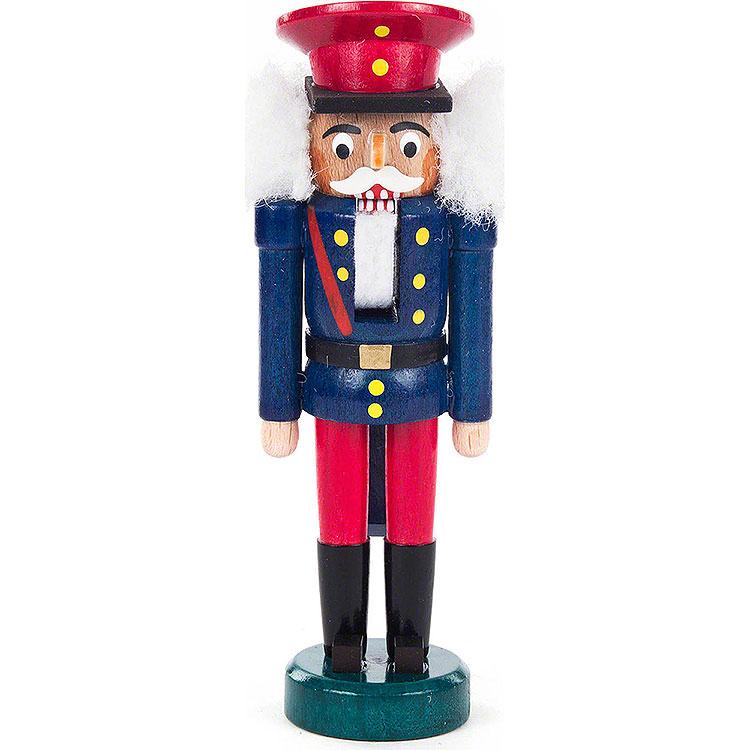 Nussknacker Eisenbahner blau - rot  -  14cm
