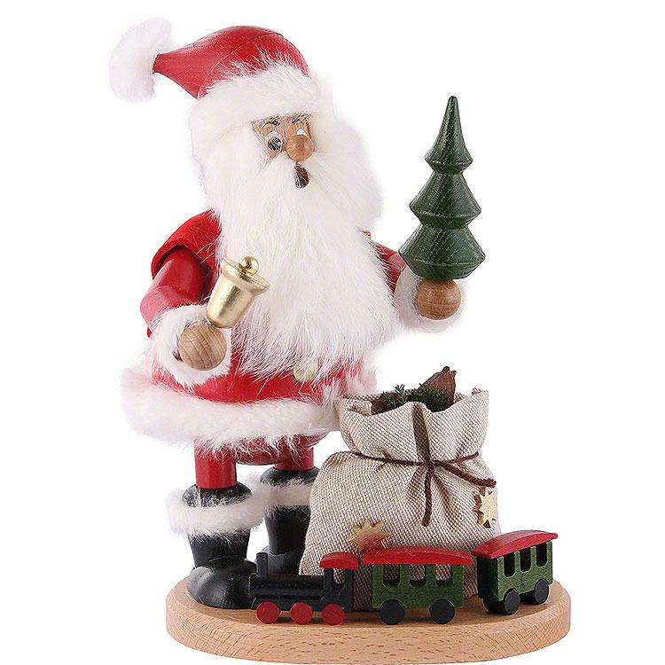 Räuchermännchen Weihnachtsmann mit Eisenbahn  -  22cm
