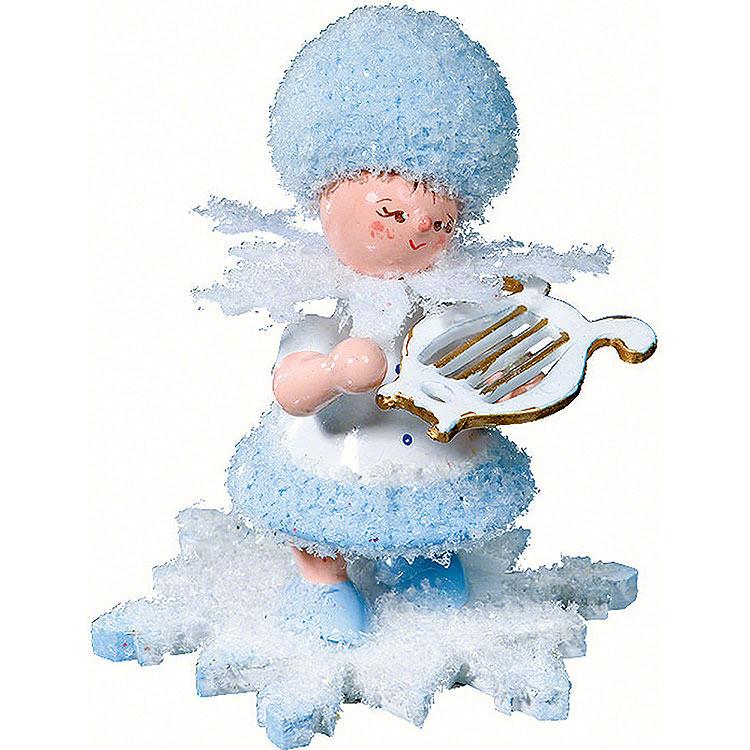 Schneeflöckchen mit kleiner Harfe  -  5cm