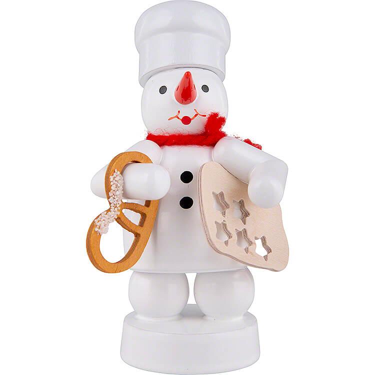 Schneemann Bäcker mit Brezel und Sternenform  -  8cm