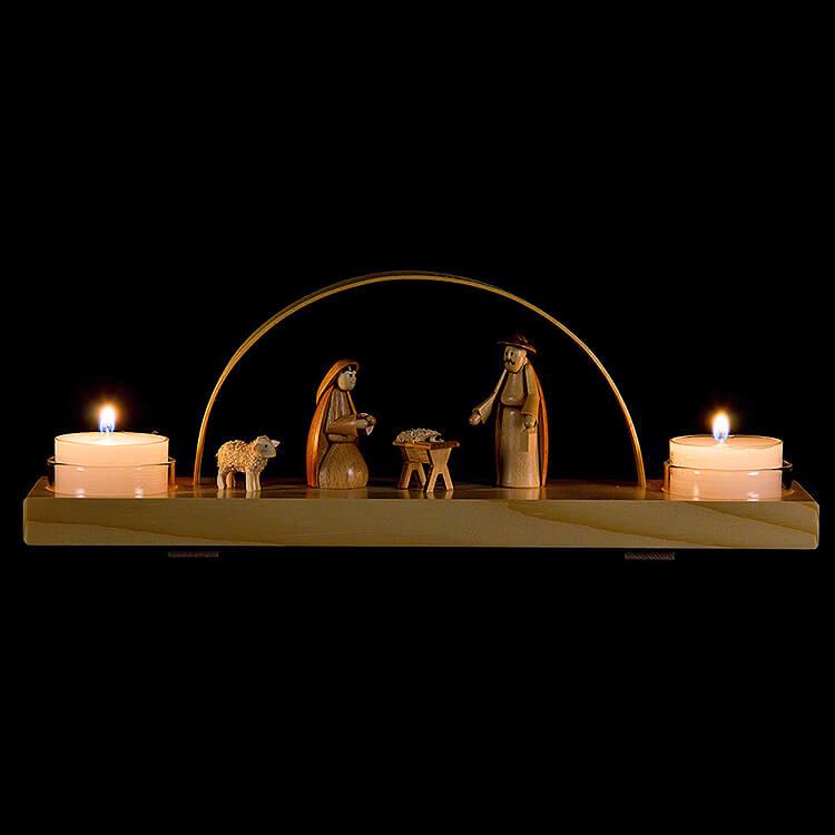 Schwibbogen Christi Geburt  -  natur  -  24x12cm