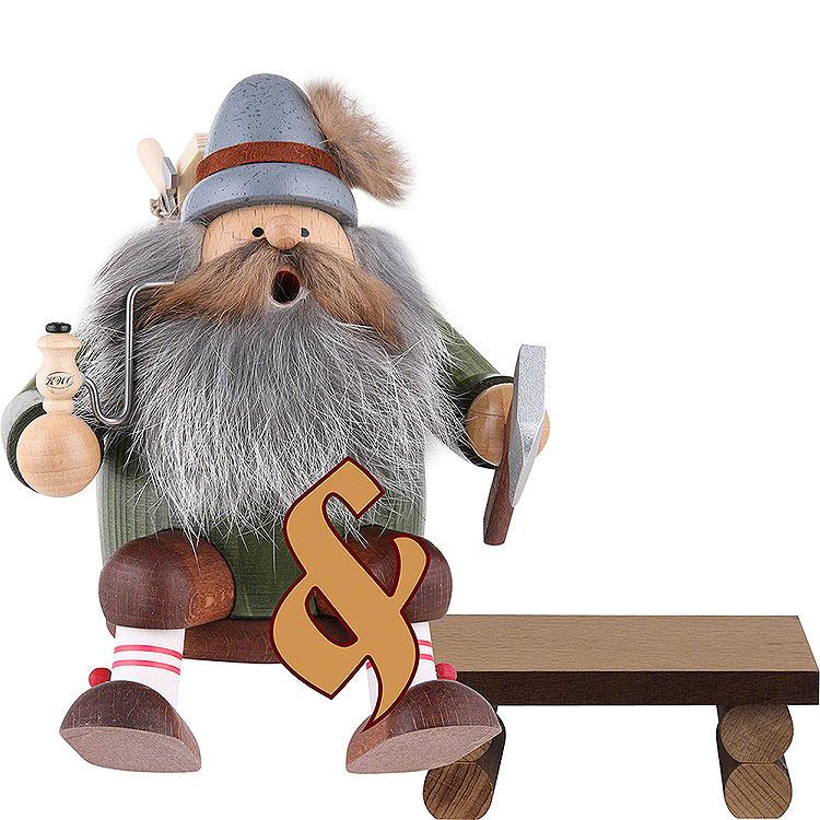 Set Räuchermännchen Holzfäller mit Bank