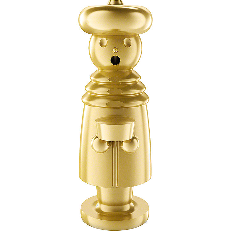 Smoker  -  Melchior  -  Stainless Steel, Gold - Plated  -  15cm / 5.9 inch