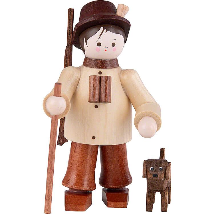 Thiel - Figur Förster mit Hund  -  natur  -  6cm
