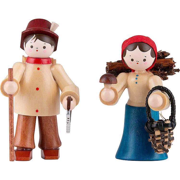Thiel Figurines  -  Forest People  -  2 pieces  -  coloured  -  6cm / 2.4 inch