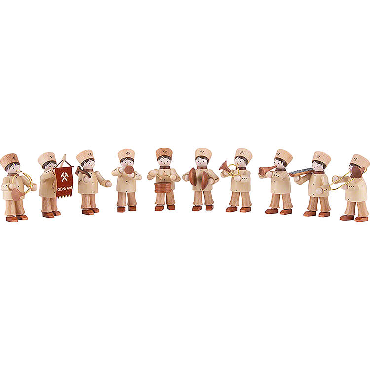 Thiel Figurines  -  Miners' Parade  -  10 pieces  -  natural  -  6cm / 2.4 inch