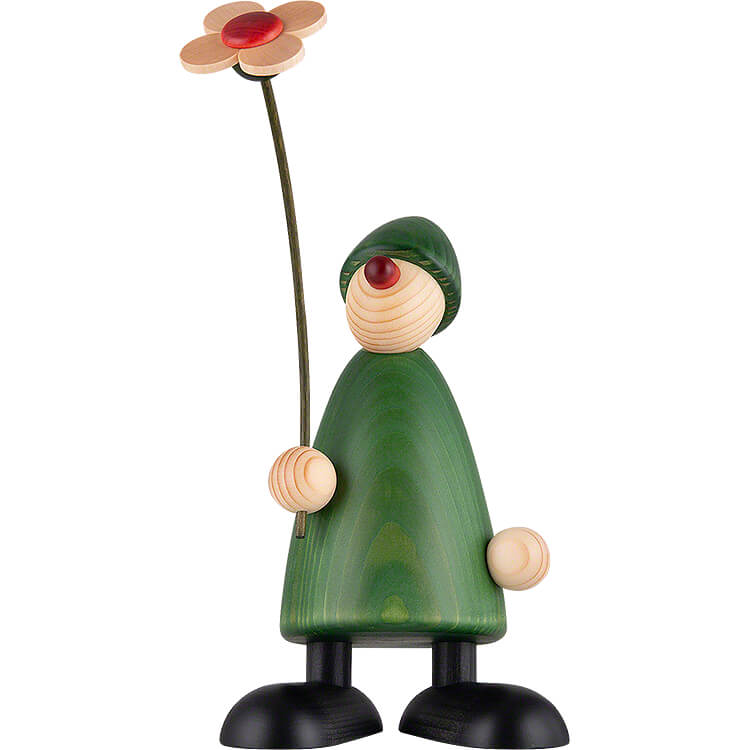 Well - Wisher Phillip with Flower  -  17cm / 6.7 inch