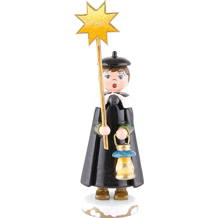 Winter Children Church Singers with Star  -  11cm / 4,3 inch