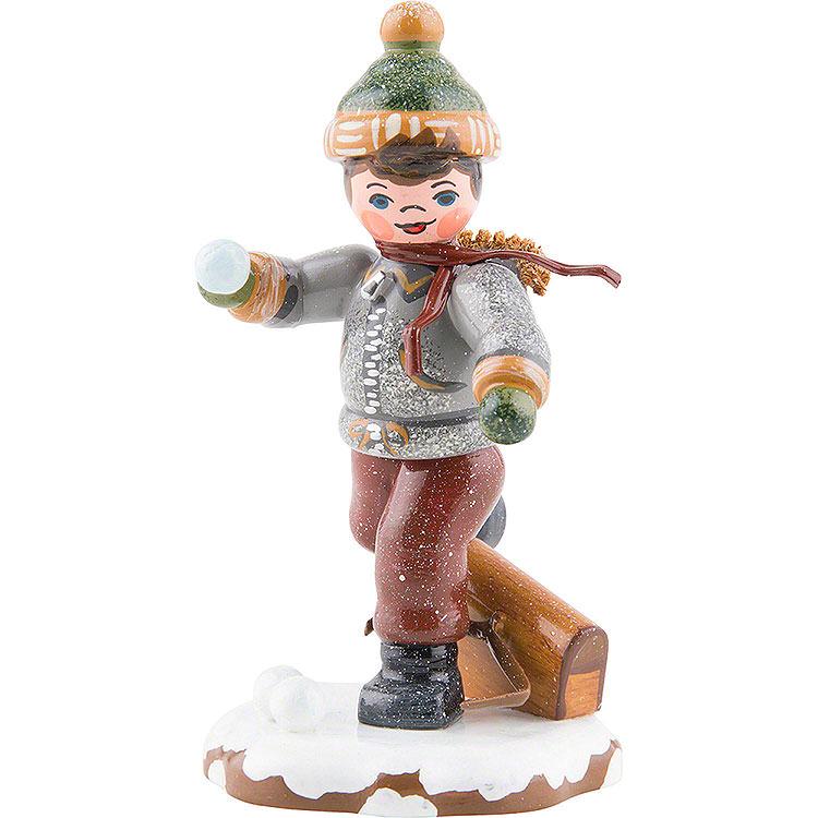 Winter Children Schoolboy  -  7cm / 3 inch