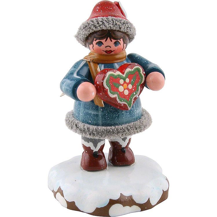 Winter Children Tinchens Gingerbread Heart  -  5cm / 2 inch