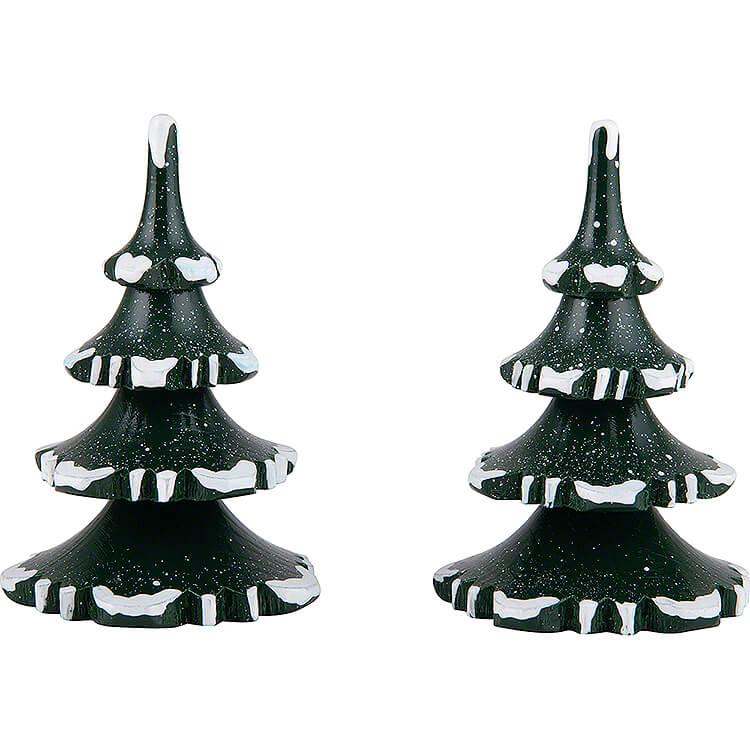 Winterkinder 2er - Set Baum  -  mittel  -  8cm