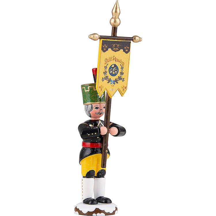 Winterkinder Bergmann mit Standarte  -  9cm