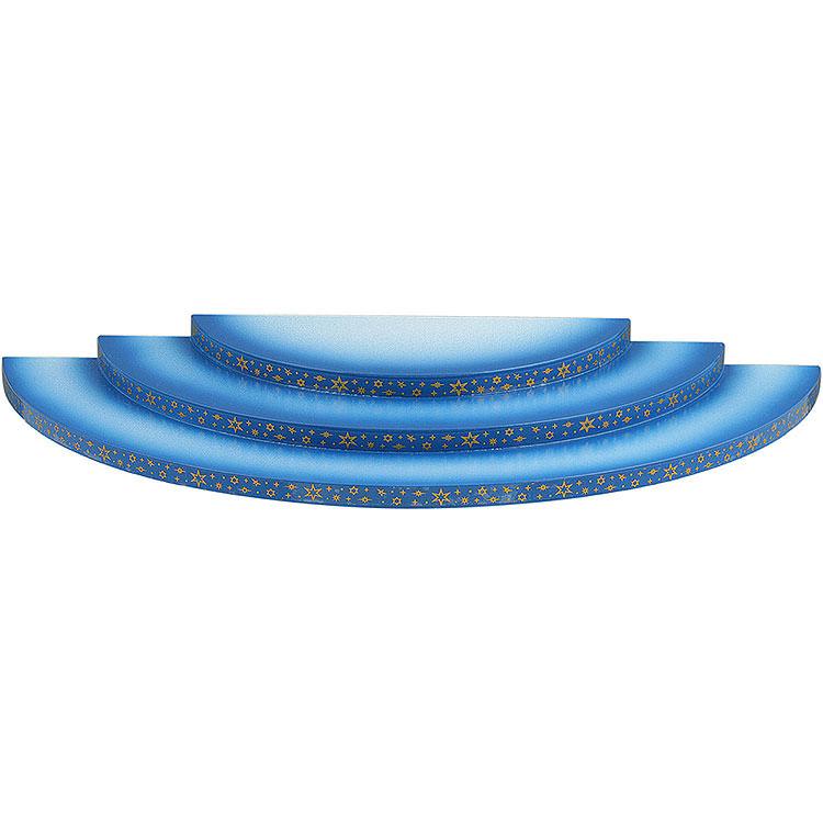 Wolke 3 - stufig blau - weiß  -  35cm