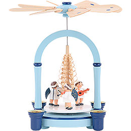 1 - Tier Christmas Pyramid  -  Angel Music Blue  -  21cm / 8 inch