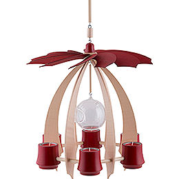 1 - Tier Hanging Pyramid NOVA  -  Maple/Rubyred  -  33cm / 13 inch