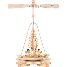 1 - Tier Pyramid  -  Angel Natural Wood  -  28cm / 11 inch