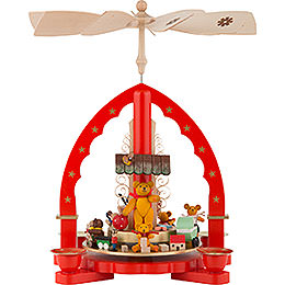 1 - Tier Pyramid  -  Bear Children  -  27cm / 11 inch