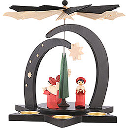 1 - Tier Pyramid  -  Carolers  -  27cm / 10,5 inch