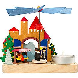1 - Tier Pyramid  -  Christmas Market Carolers  -  12cm / 4.7 inch