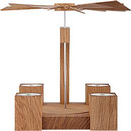 1 - Tier Pyramid  -  Modern Natural Oak Blank   -  24cm / 10 inch