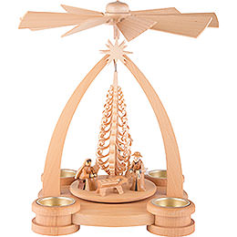 1 - Tier Pyramid  -  Nativity Scene  -  28cm / 11 inch