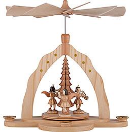 1 - Tier Pyramid  -  Three Angels, Natural  -  28x27x30cm / 11x10.6x11.8 inch