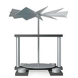 1 - stöckige Pyramide LUMA unbestückt, achatsilber  -  32cm