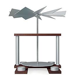 1 - stöckige Pyramide LUMA unbestückt, nussbaumfarben  -  32cm